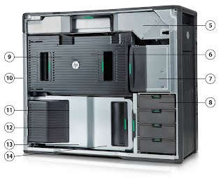 HP Z820 without side cover