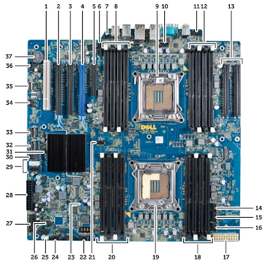 Dell T7600 System Board Components